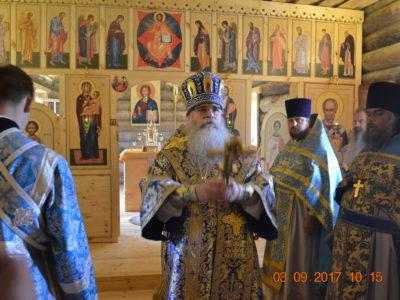 Приезд митрополита Петрозаводского и Карельского Константина и освящение храма Святителя Николая