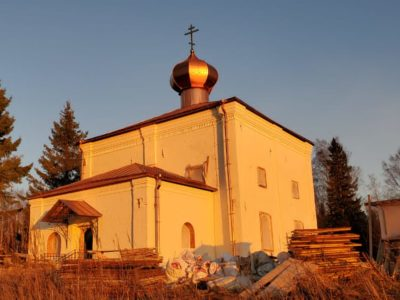 Закончен основной этап воссоздания храма прв. Захарии и Елисаветы на Клименецком острове